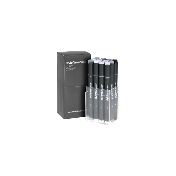 Stylefile Marker 12'li Cool Grey Set