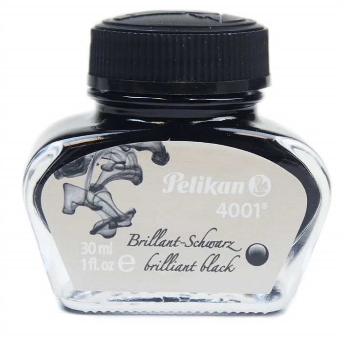 Pelikan 4001 Dolma Kalem Mürekkebi - Brilliant Black - 30ml