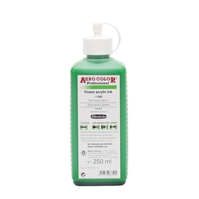 Schmincke Aerocolor - Permanent Green - 250ml