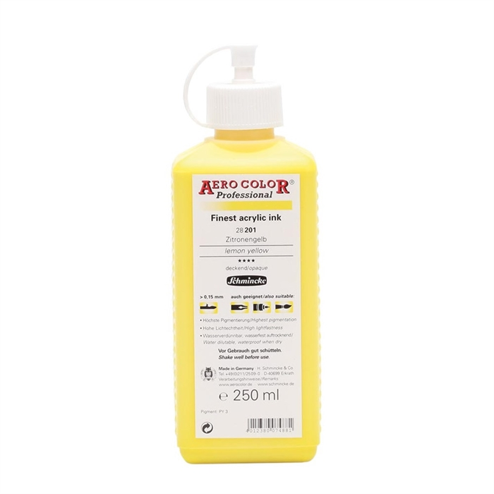 Schmincke Aerocolor - Lemon Yellow - 250ml