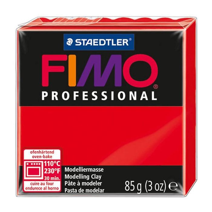 Fimo Professional Polimer Kil - Red - 85g