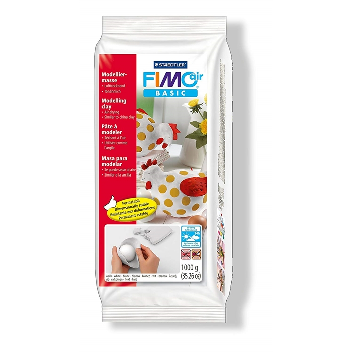 Fimo Air Basic Modelling Clay - White - 1000g