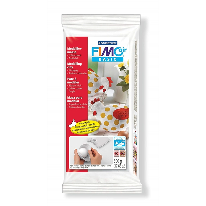 Fimo Air Basic Modelling Clay - White - 500g