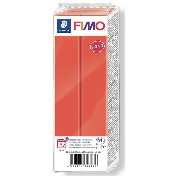 Fimo Soft Polimer Kil - Indian Red - 454g