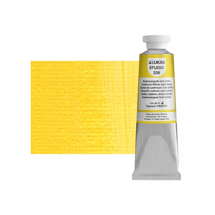 Lukas Studio Yağlıboya 37ml N:226 Cadmium Yellow Light Hue