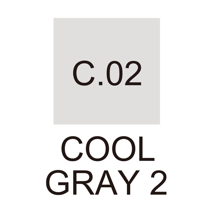Zig Cartoonist Kurecolor Fine & Brush for Manga - Cool Gray 2 - C02