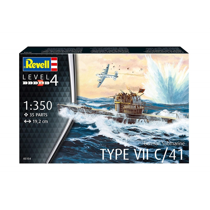 Revell - German Submarine Type VII C/41 - 1:350 - 5154